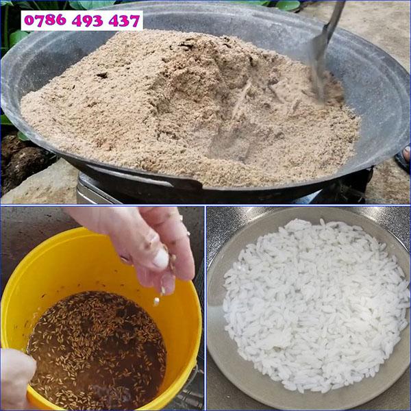 cách làm mồi bẫy cá rô đồng dùng cám gạo
